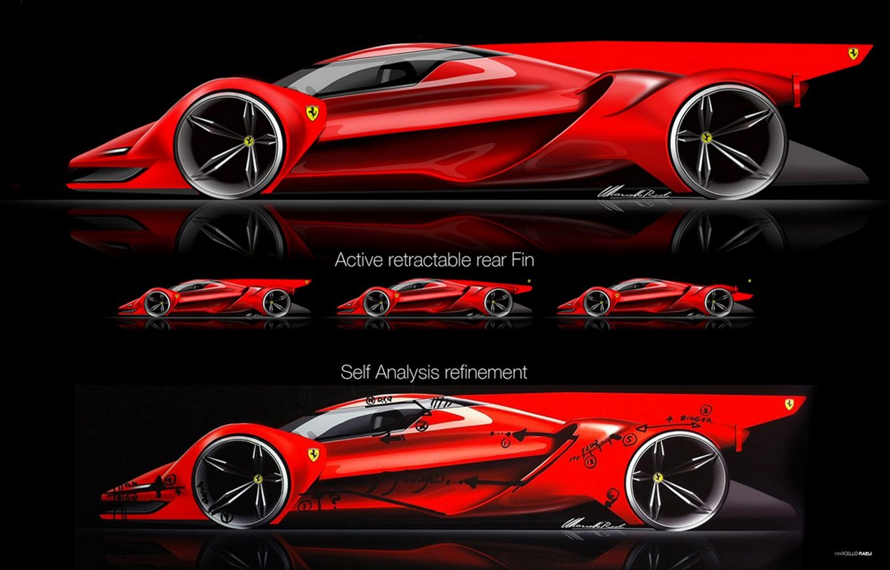 car designer dreams up rad ferrari le mans prototype 95 octane. Black Bedroom Furniture Sets. Home Design Ideas