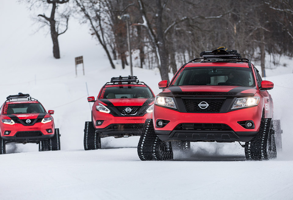 Nissan Winter Warrior Concepts: Tank Tread All the Things