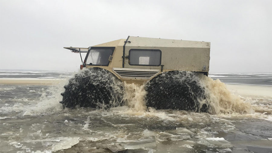 Sherp ATV Floats and Climbs Obstacles up to 27″ Tall
