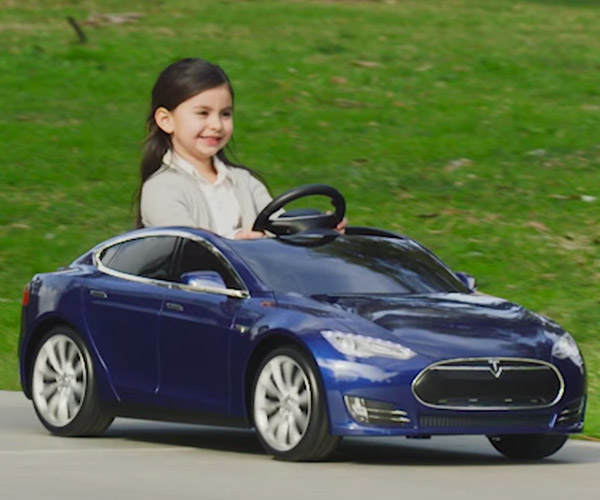 Tesla Model S Ride-on Toy Aims to Hook Kids Early