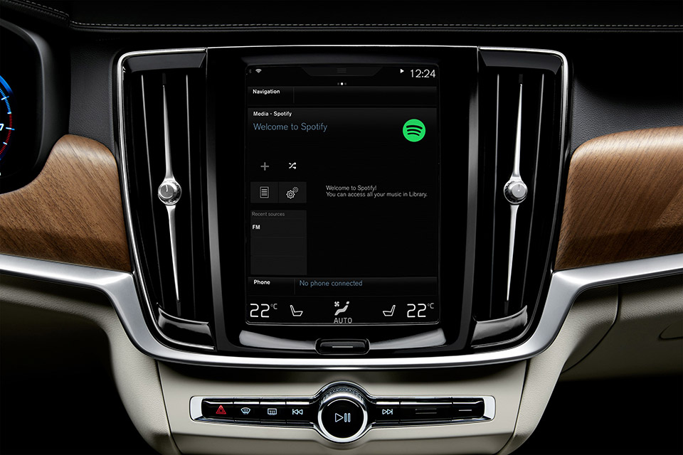 Volvo XC90, S90, and V90 to Get Native Spotify Streaming