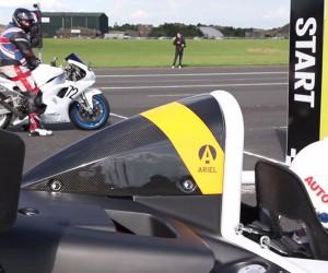 Ariel Atom 3.5R vs. Yamaha YZF R1 vs. Rallycross Racer
