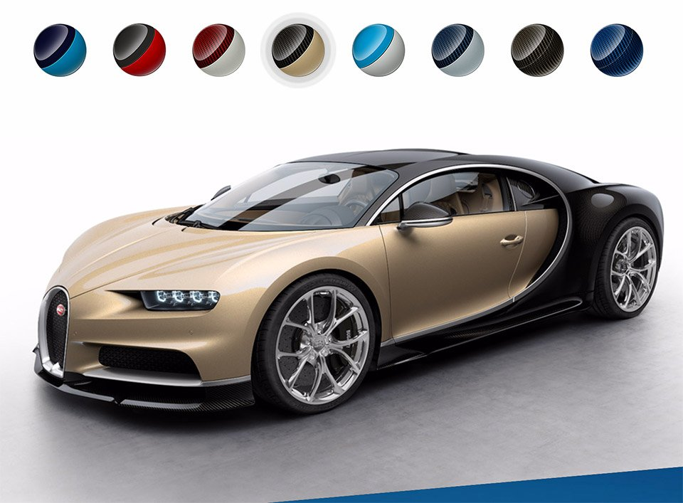 Bugatti Website Shows off Chiron Colors