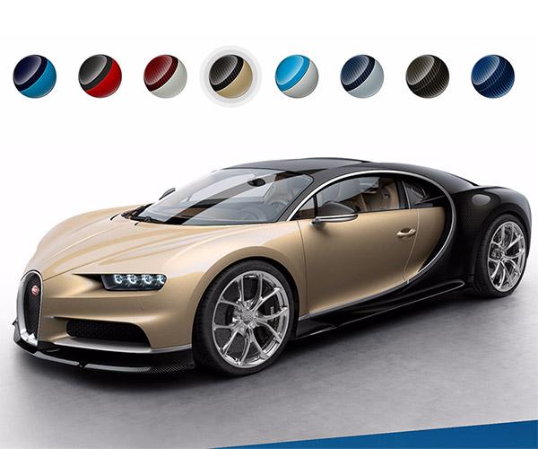 Bugatti Website Shows off Chiron Colors