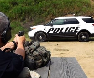 Ford Police Interceptor Stops .30cal Armor Piercing Rounds