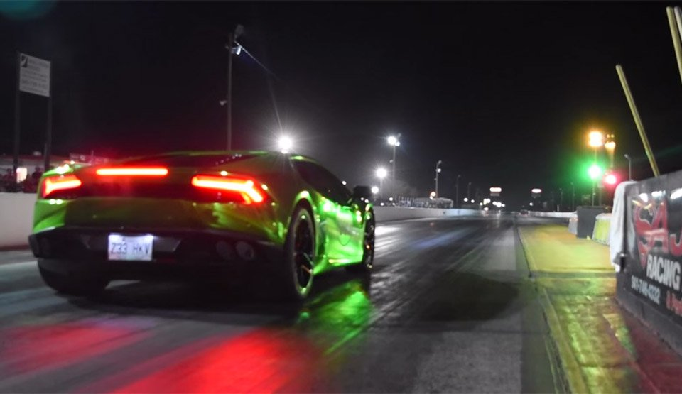 Insane Lamborghini Huracan Does 1/4 Mile in the Eights
