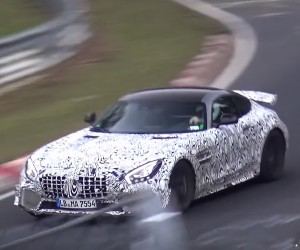 Mercedes-AMG GT R Spied Pushing Hard at the Nürburgring