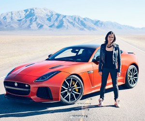 Michelle Rodriguez Gets Fast & Furious in a Jaguar F-Type SVR