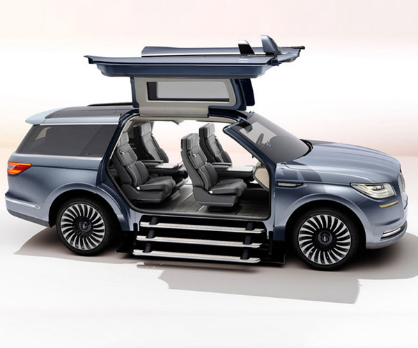 Lincoln Navigator Concept Has Gullwing Doors and a Staircase