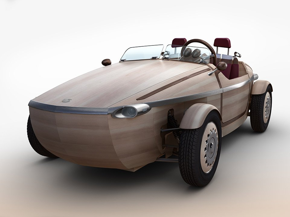 Wooden Toyota Setsuna Concept: The Dutch Shoe EV