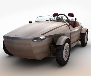 Wooden Toyota Setsuna Concept: The Dutch Shoe EV