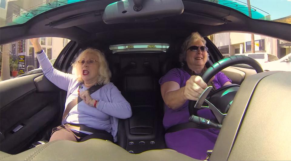 Two Grannies Cruise in a Lamborghini: Granborghini
