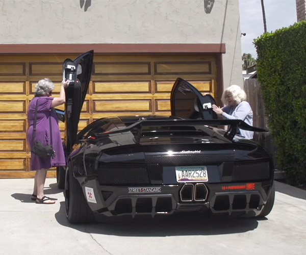 Two Grannies Cruise in a Lamborghini: Granborghini