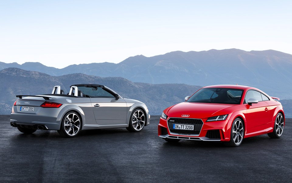 2017 Audi TT RS Coupe and Roadster Pack 400hp
