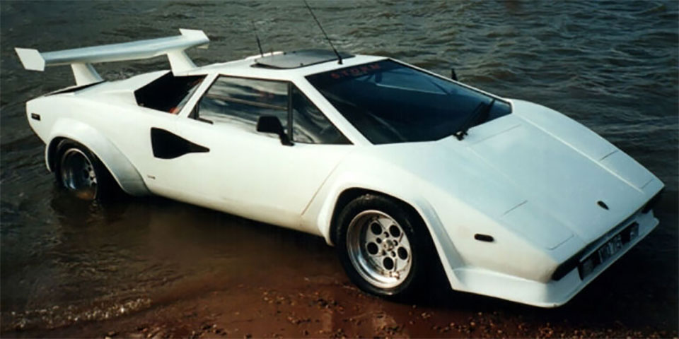 amphibighini proves the lamborghini countach walks on water 95 octane. Black Bedroom Furniture Sets. Home Design Ideas