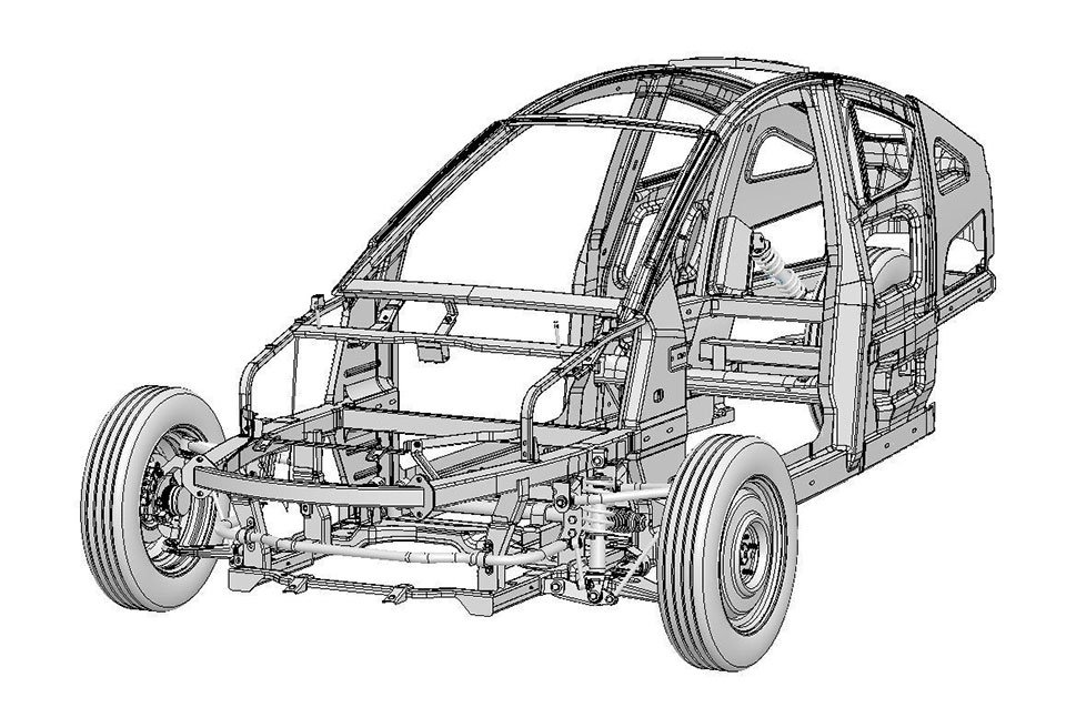 Elio Motors Completes Chassis Engineering