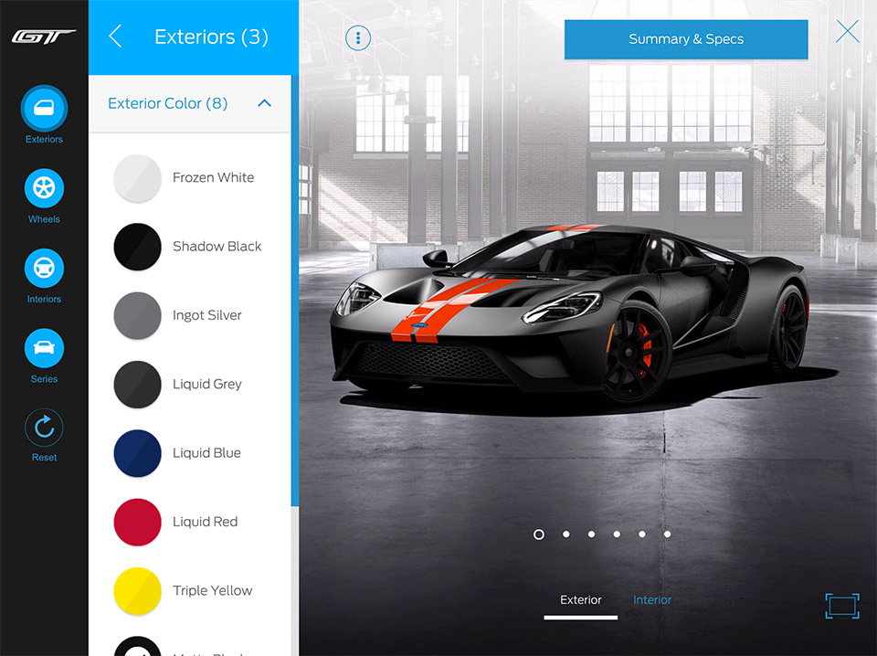 Ford GT Configurator Lets Mere Mortals Dream