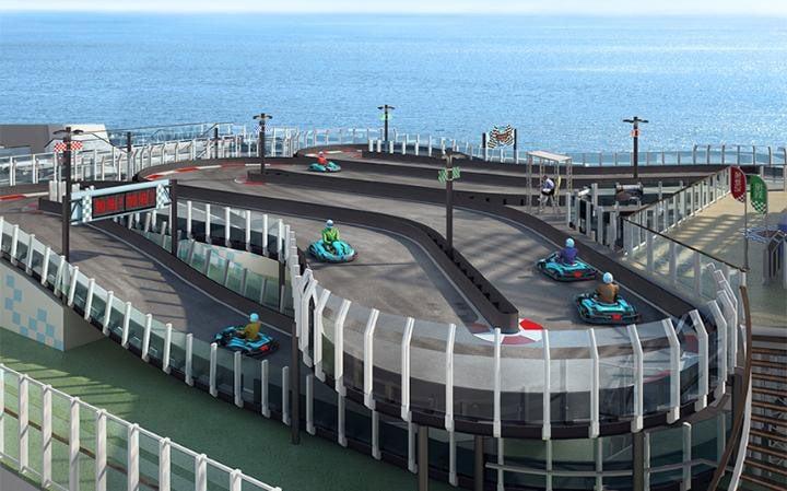 Cruise Ship Gets Go Kart Race Track