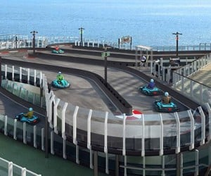 Cruise Ship Gets Go Kart Race Track