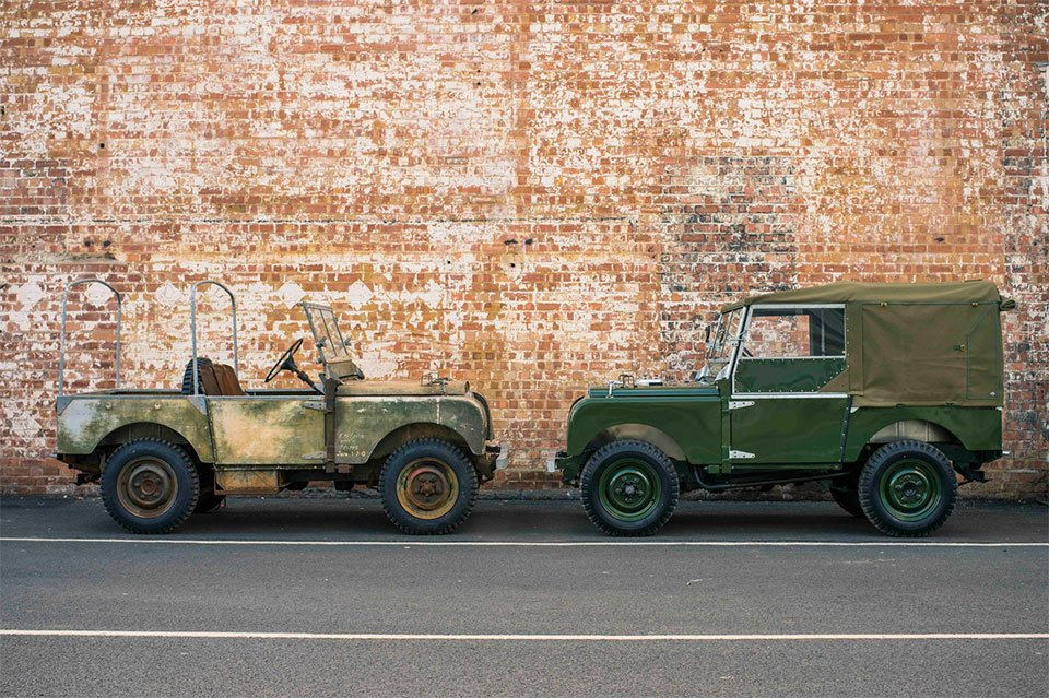 land rover series 1 perfectly restored by land rover. Black Bedroom Furniture Sets. Home Design Ideas