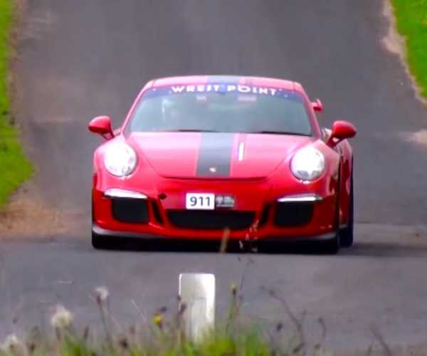 A Porsche 911 GT3 Sounds off at Targa Tasmania 2016