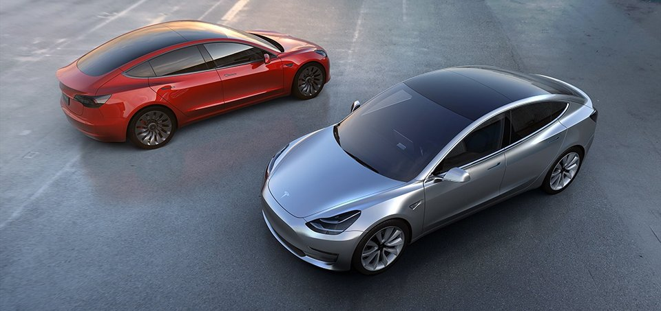 Tesla Model 3 Breaks Cover, Books 115K+ Reservations