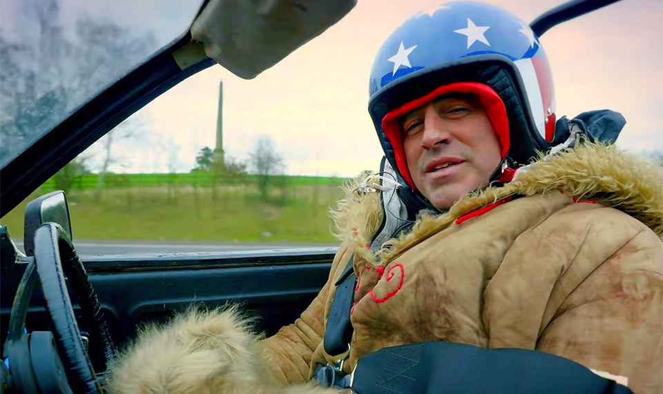 Matt LeBlanc Almost Flattens Cameraman on Top Gear Set