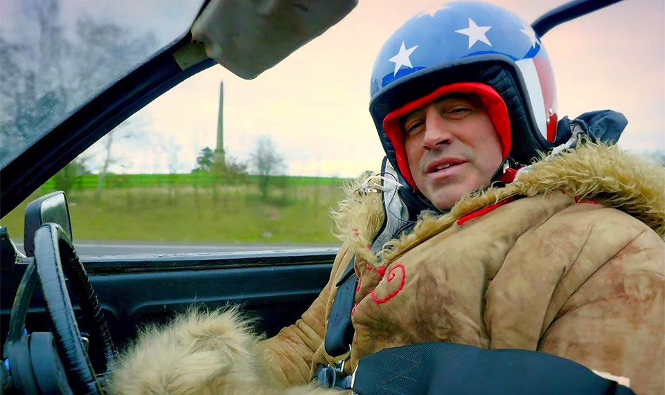 Matt LeBlanc Almost Flattens Cameraman on Top Gear Set