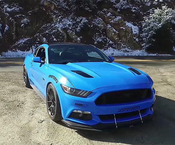 Geek out over This Sweet Blue Track-Built Mustang GT
