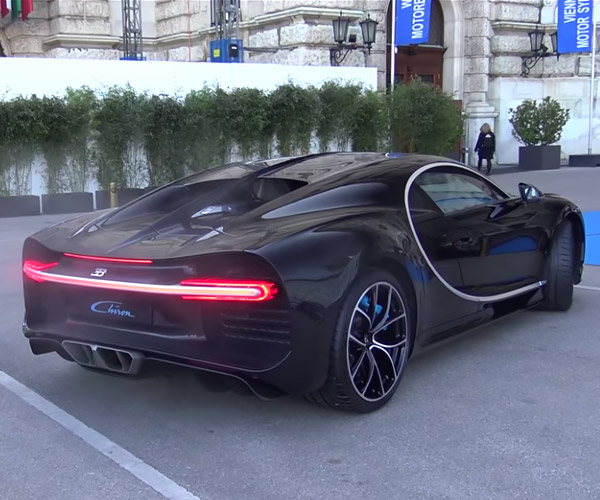 Bugatti Chiron Revs Make Pulses Race