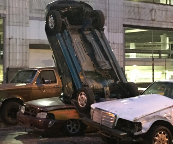 Fast & Furious 8 Tosses Car out of Cleveland Parking Garage