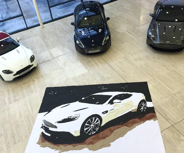 Aston Martin Creates Vanquish Art Using Leftover Leather
