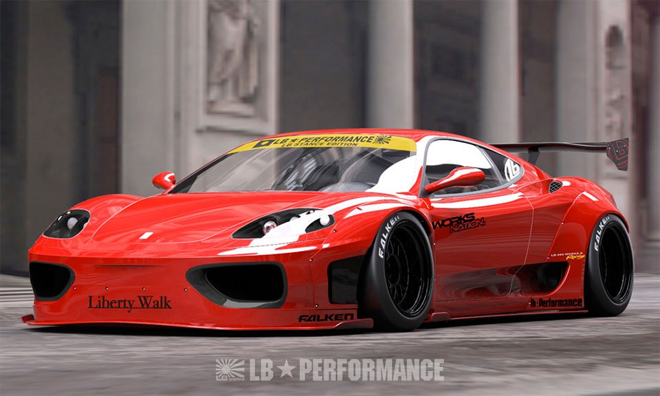 Liberty Walk Body Kit Adds Japanese Style to Italian Exotic