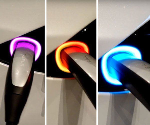 Tesla's Latest Easter Egg is a Rainbow Charge Port