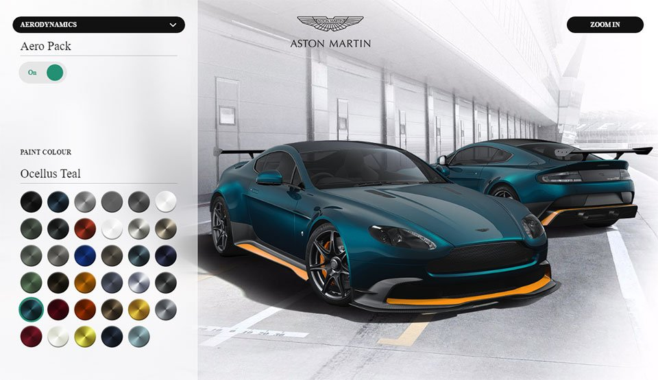 Create Your Dream Aston Martin Vanquish GT8