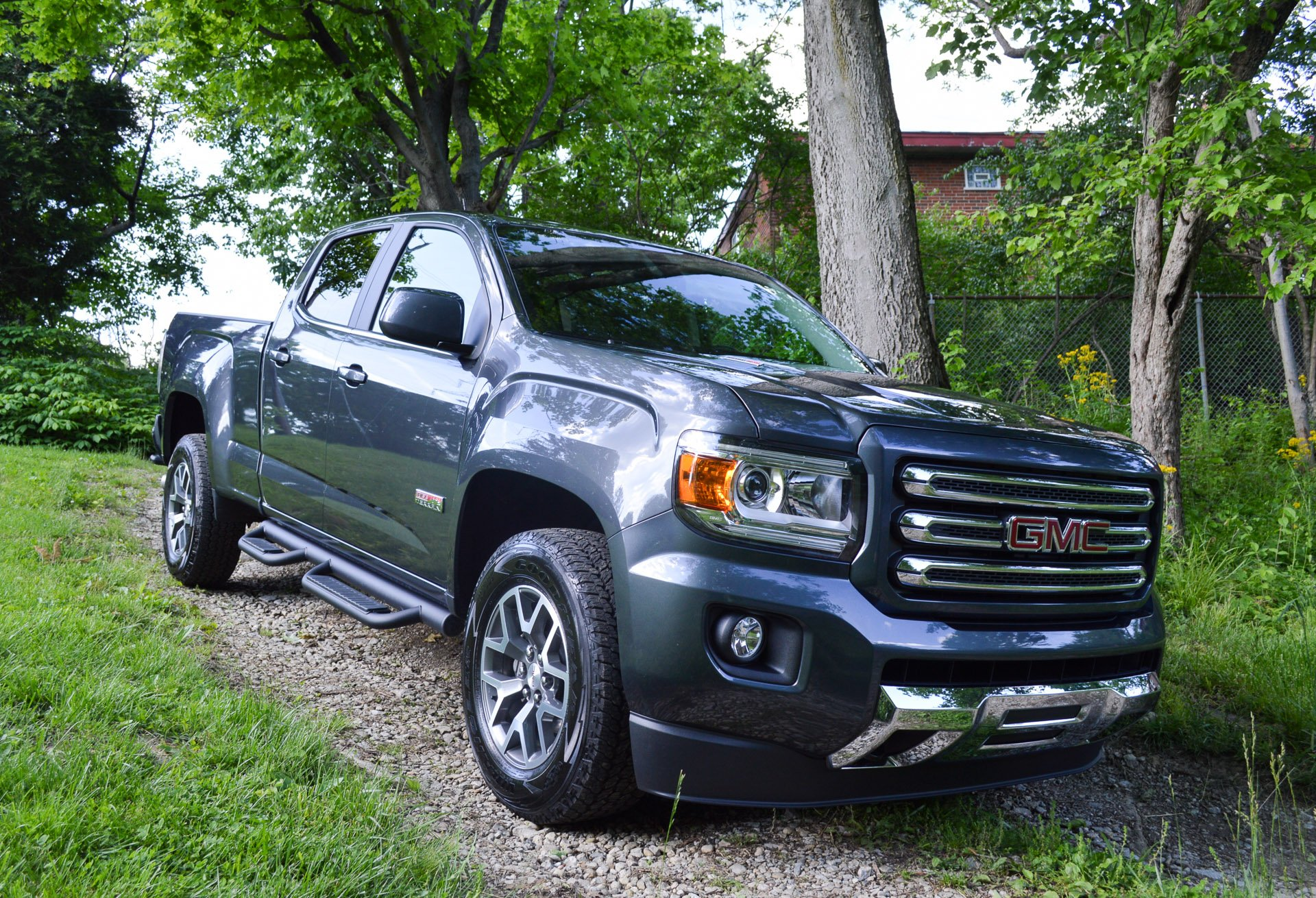 gmc edition three trend and front cars quarter canyon motor rating nightfall reviews