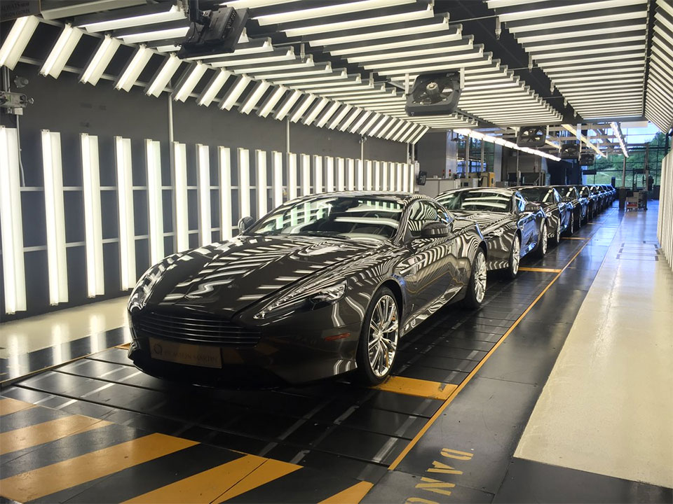 Final Aston Martin DB9 Cars Roll off Assembly Line