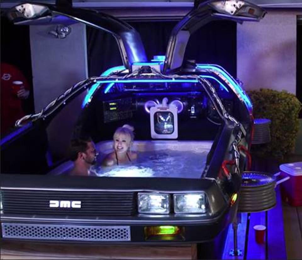 DeLorean Hot Tub Time Machine: Relax to the Future