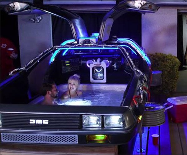 DeLorean Hot Tub Time Machine: Relax to the Future