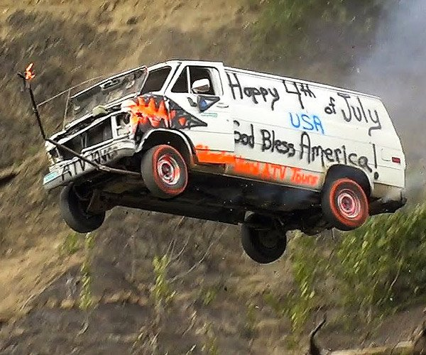 Alaskan Town Launches Cars off a Cliff to Celebrate the 4th of July