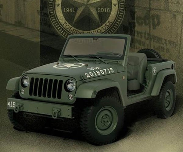 Jeep Wrangler 75th Salute Concept Looks Like the Original