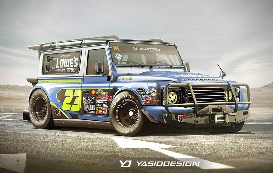 Land Rover Defender NASCAR Concept - 95 Octane
