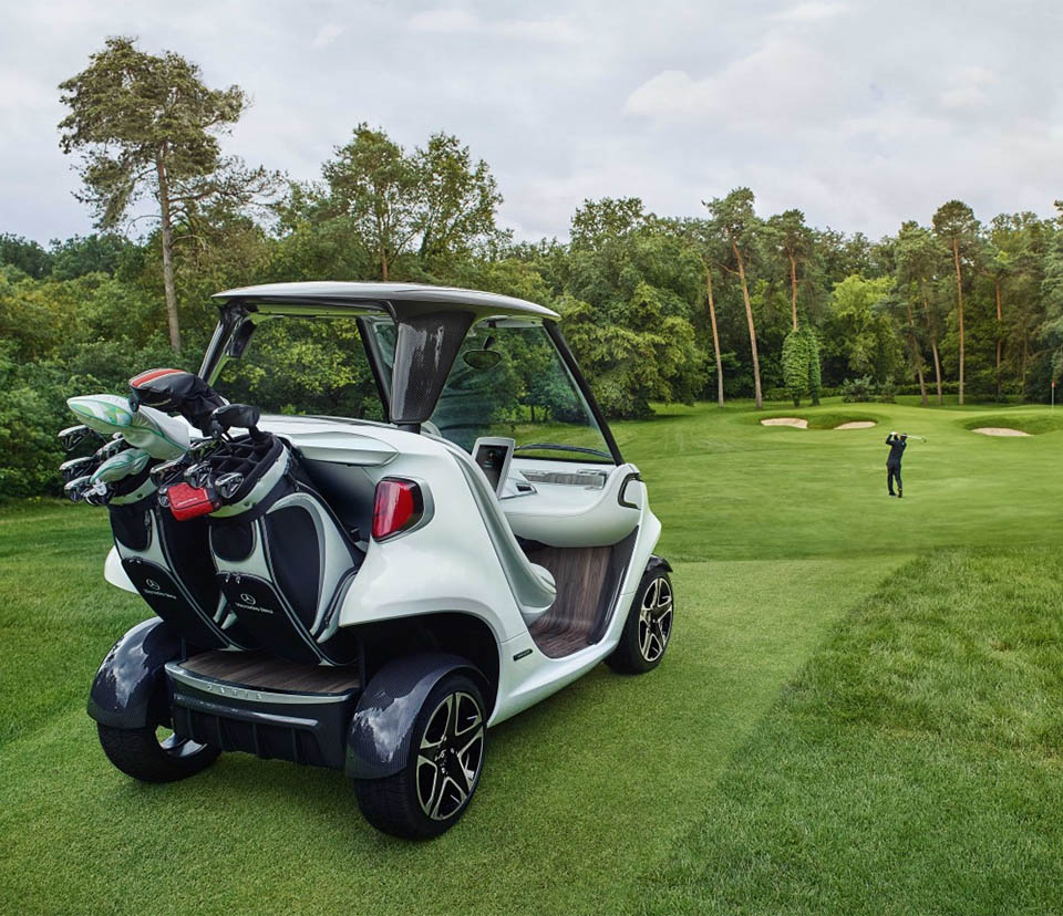 "Rolls Royce Golf Cart >> Mercedes Shows off ""A Real Sports Car"" for the Golf Course - 95 Octane"