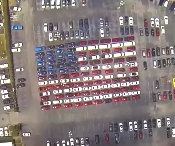 Old Glory Made from Over 100 Cars