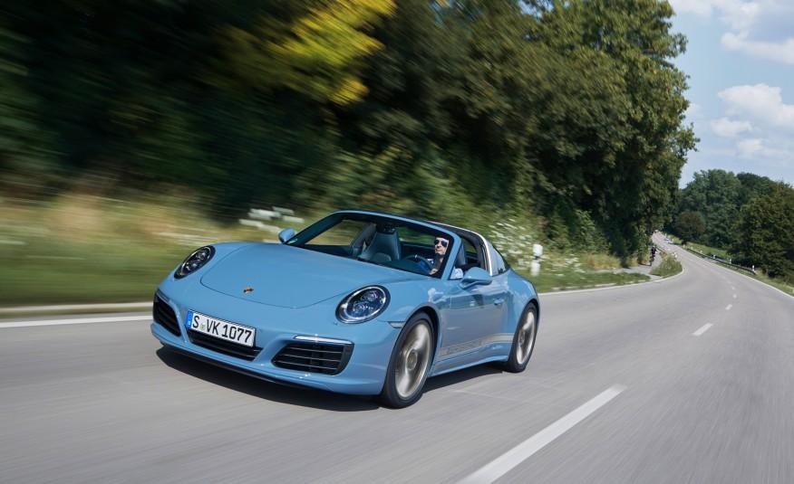 Porsche 911 Targa 4S Exclusive Design Edition is Blue and Badass