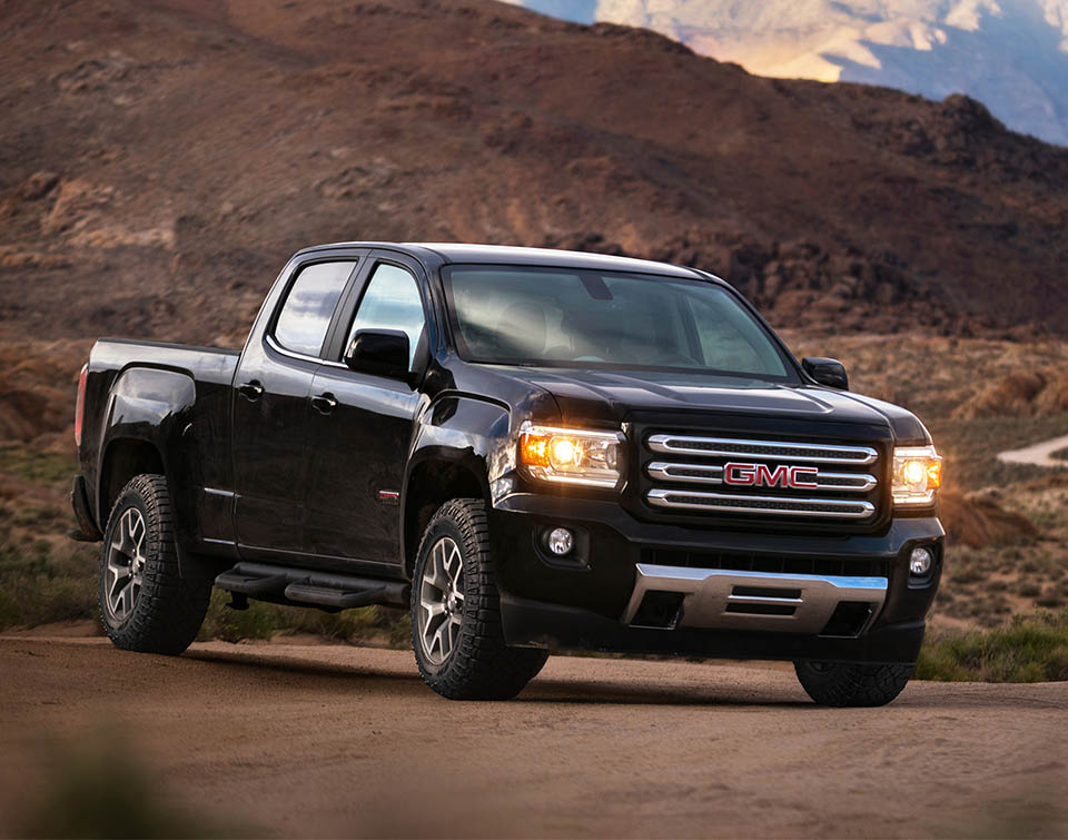 2017 gmc canyon gets denali and all terrain x models 95. Black Bedroom Furniture Sets. Home Design Ideas