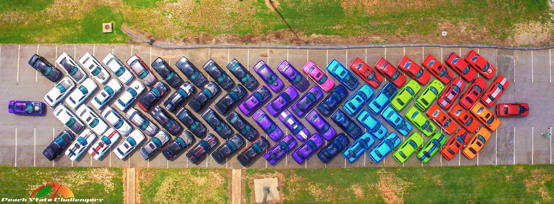 A Rainbow Of Dodge Challengers 95 Octane