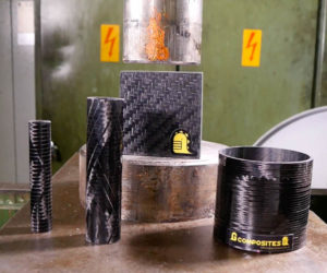 Hydraulic Press Crushing Carbon Fiber is Hypnotic