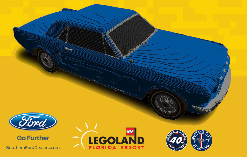 Lego Building Life Size 64 1 2 Mustang Model 95 Octane