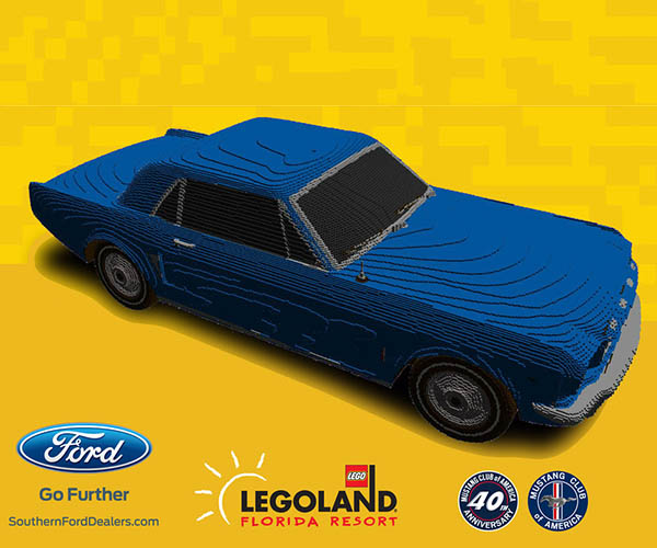 LEGO Building Life-Size '64-1/2 Mustang Model